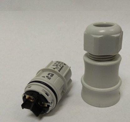 Розеточный разъем Wieland для установки на кабель (6-10mm)