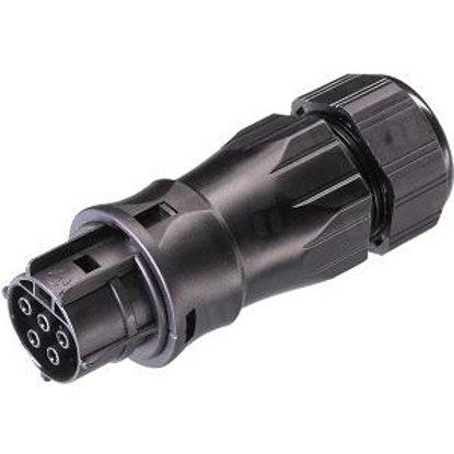 Розеточный разъем на кабель (13-18mm) 5 полюсов