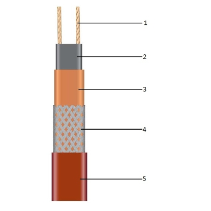 Саморегулирующаяся нагревательная лента 27VL2-T