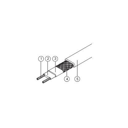 Саморегулируемый нагревательный кабель Devi-pipeguard 33