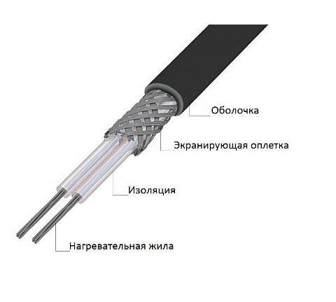 Секция 30МНТ2-0480-040 нагревательная кабельная