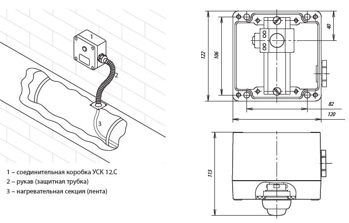 Коробка соединительная ССТ УСК 12.C